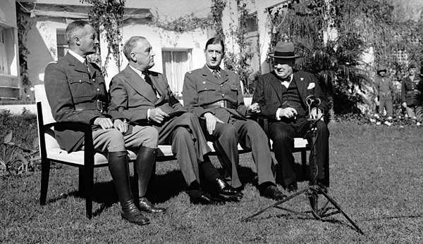 I capi di stato alleati a Casablanca.