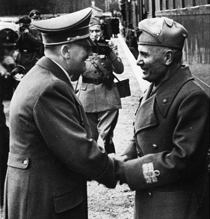 L'incontro di Mussolini e Hitler a Klessheim.
