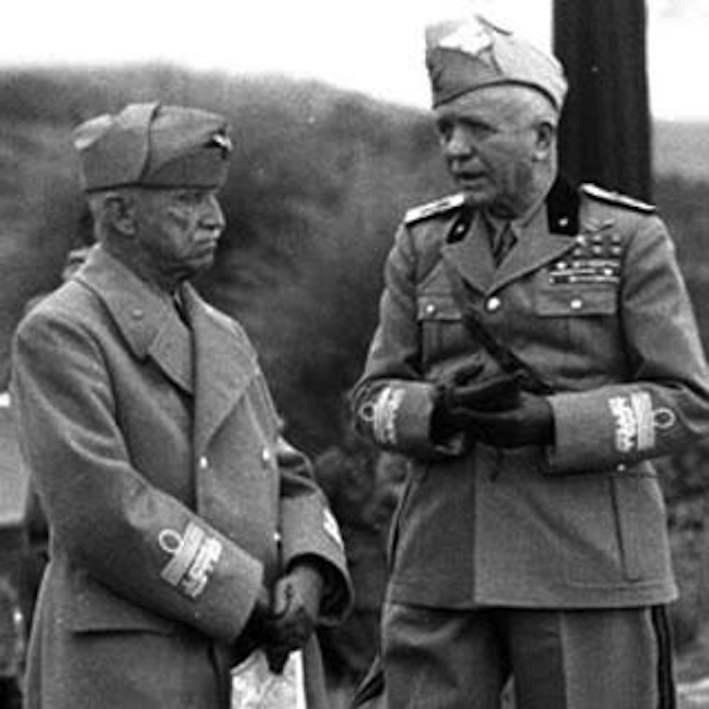 Vittorio Emanuele III con Pietro Badoglio