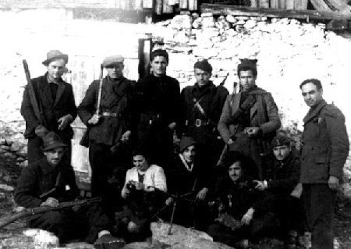 Reparto di partigiani garibaldini della Valsesia.