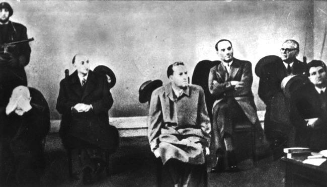 Gli imputati del processo di Verona.
