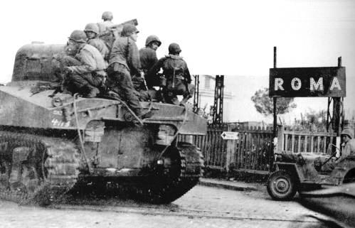 L'ingresso a Roma delle forze alleate.