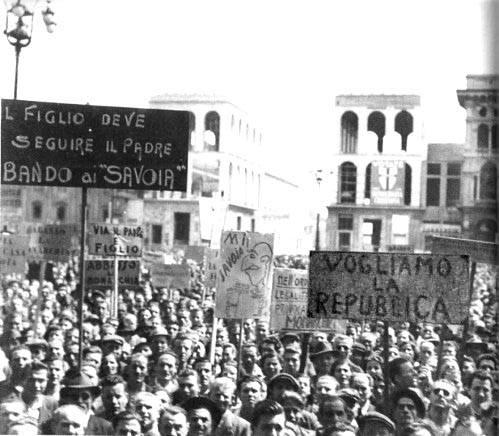 Manifestazione repubblicana a Roma.