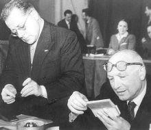 Togliatti e Nenni nel 1946.