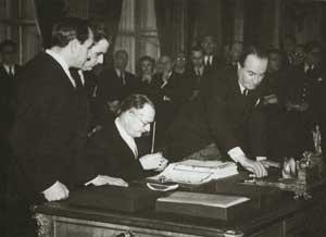 Meli di Soragna firma il Trattato di Pace.