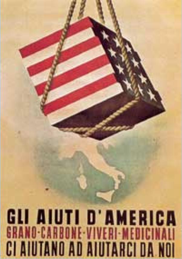 Manifesto propagandistico del Piano Marshall.