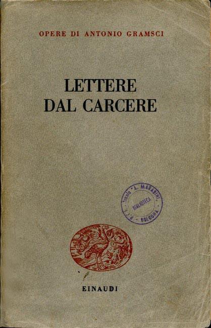 Copertina della I edizione delle Lettere dal carcere.