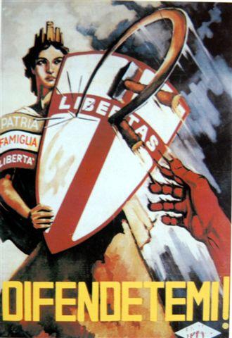 Manifesto DC di propaganda elettorale del 1948.