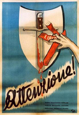 Manifesto elettorale del Fronte popolare.
