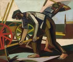 Terre non guerre, dipinto di Armando Pizzinato, 1950.