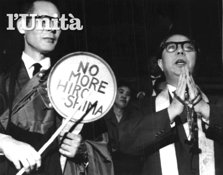 Delegati giapponesi al Consiglio mondiale dei Partigiani della pace a Stoccolma nel 1950.