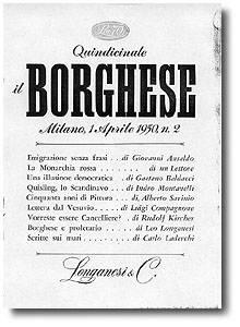 Copertina de Il Borghese n. 2 del 1950