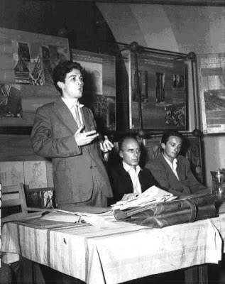 Enrico Berlinguer con Giancarlo Pajetta e Ugo Pecchioli nel 1950.