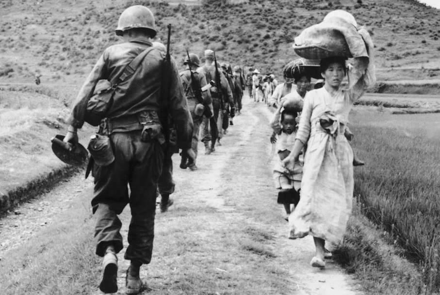 Truppe americane in Corea.