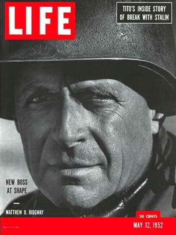 Il gen Matthew B. Ridgway sulla copertina di Life.