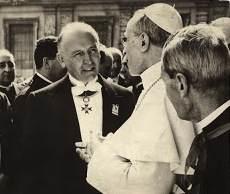 Luigi Gedda con il Pontefice Pio XII.