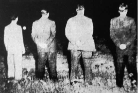 L'esecuzione di Beloyannis e dei suoi tre compagni.