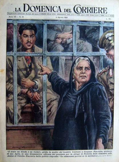 Il processo di Viterbo nella copertina della Domenica del Corriere.