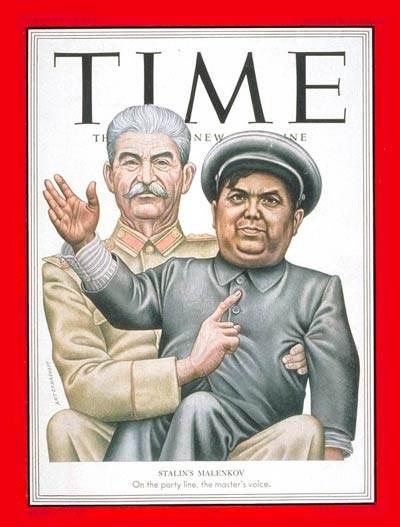 Stalin e Malenkov nella copertina di Time del 6/10/52.