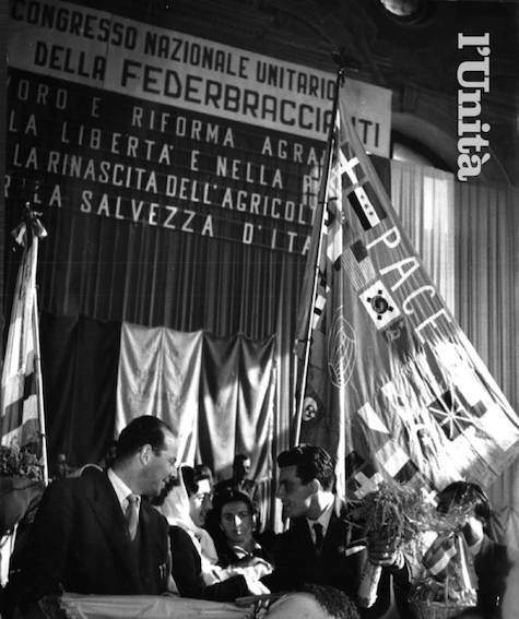 Il congresso della Federbraccianti del 1952.