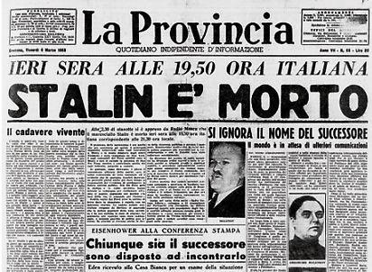 La morte di Stalin su La Provincia di Cremona.