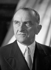 Cesare Merzagora, presidente del Senato nella 2ª, nella 3ª e nella 4ª legislatura.