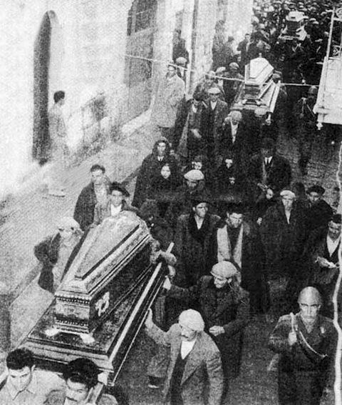 Funerali per i morti di Mussomeli.