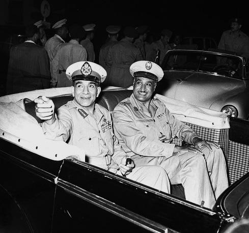 Nasser e Naguib nel 1954.