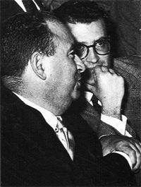 Arrigo Benedetti con Eugenio Scalfari.