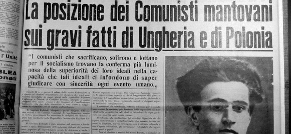 Il dissenso dei comunisti mantovani sui fatti d'Ungheria.