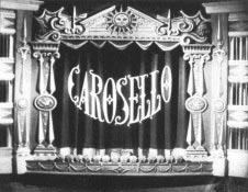 La sigla grafica di Carosello nel 1957.