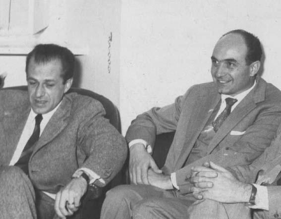 Matteotti (a sinistra) e Mario Tanassi.