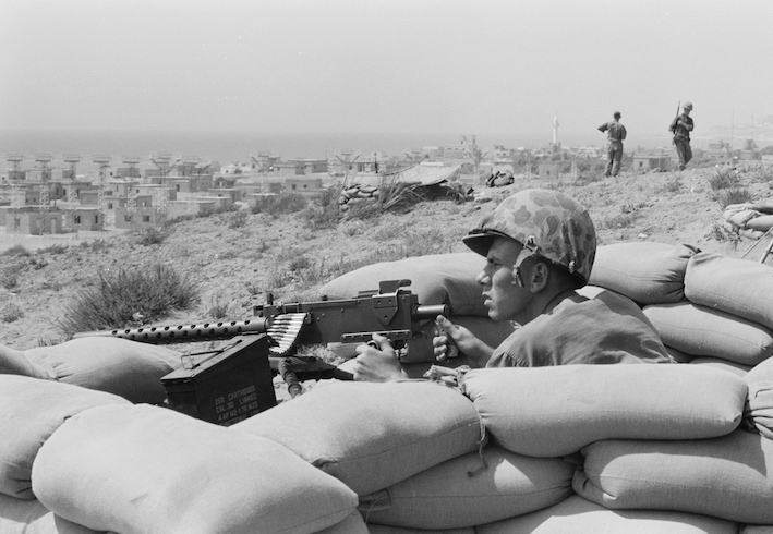Marines americani in Libano nel 1958.