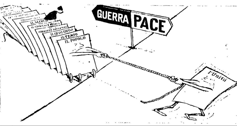 Vignetta apparsa sull'Unità il 6/8/58.