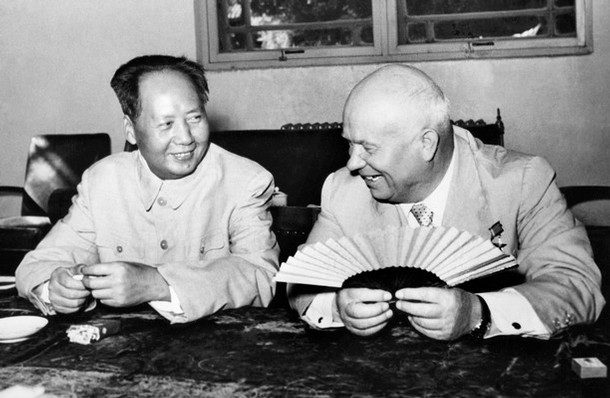 Mao e Krusciov a Pechino nel 1958.