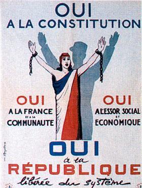 Propaganda gollista per il referendum del 28 settembre 1958.