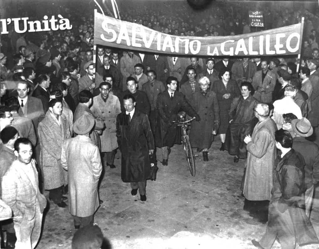 Manifestazione per la Galileo