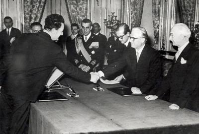 Il giuramento dei ministri del governo Segni.