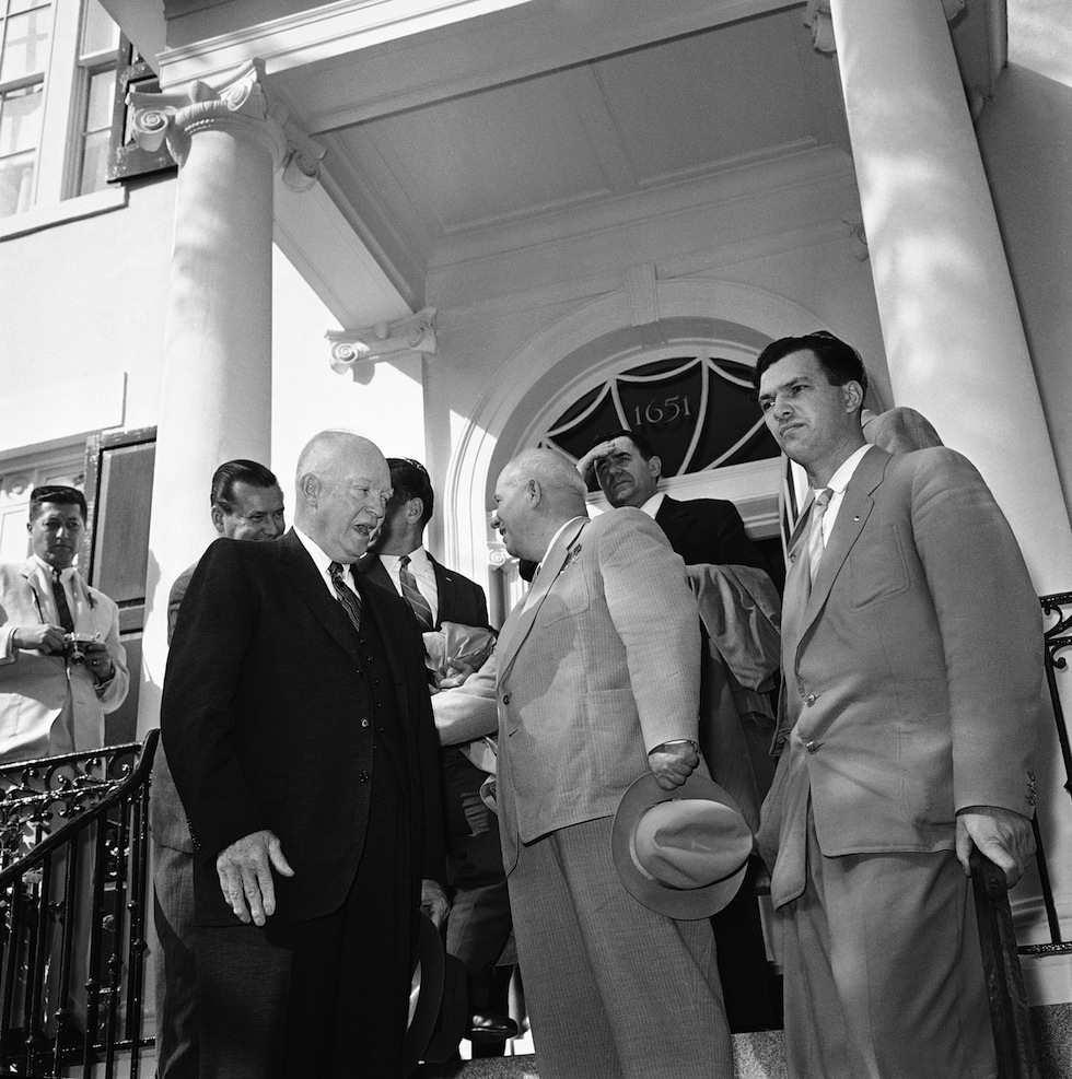 Krusciov e Eisenhower  a Camp David.