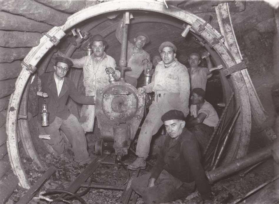 Minatori della Maremma negli anni '50.