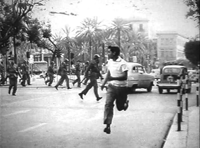 Gli scontri a Palermo.
