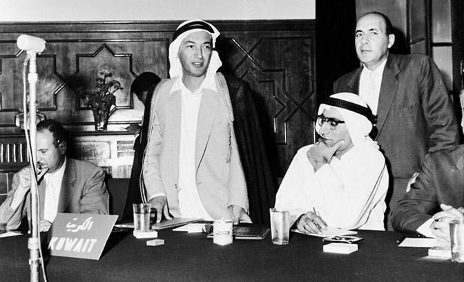 Ahmed Sayed Omar, capo della delegazione del Kuwait alla conferenza di Baghdad.
