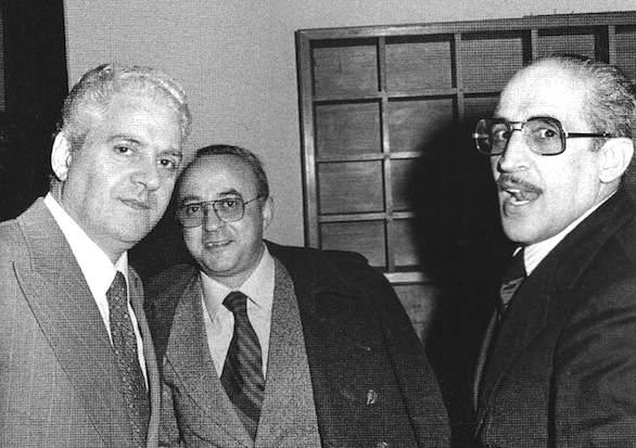 Salvo Lima (a sinistra) e Vito Ciancimino (a destra), due sindaci di Palermo compromessi con la mafia.