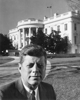 John F. Kennedy alla Casa bianca.