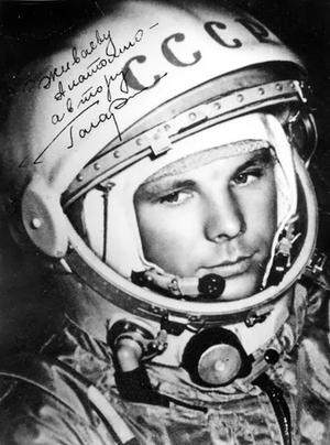 Yuri Gagarin, primo astronauta.