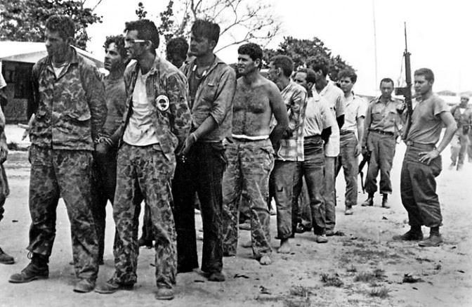 Prigionieri catturati alla Baia dei porci.