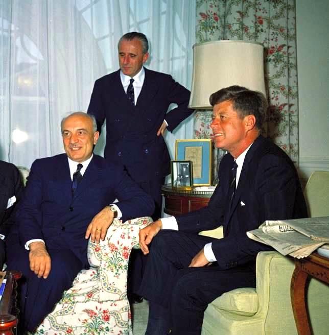 Fanfani e Kennedy a colloquio nel giugno 1961.