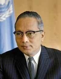 U Thant, segretario generale dell'ONU dal 1961.