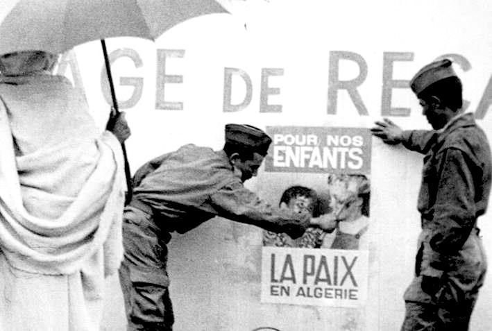 In Algeria si esulta per gli accordi di Evian.