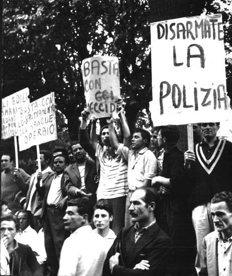 Contestazioni popolari a Ceccano dopo l'omicidio dell'operaio Mastrogiacomo.